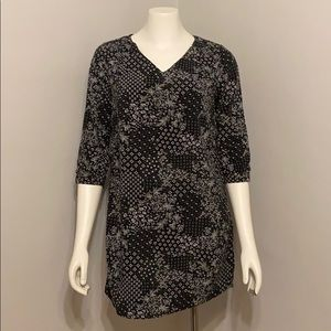 Old Navy Floral Geometric Pattern Shift Dress